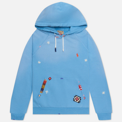 Женская толстовка Polo Ralph Lauren Patchwork Loopback Fleece Hoodie Carolina Blue