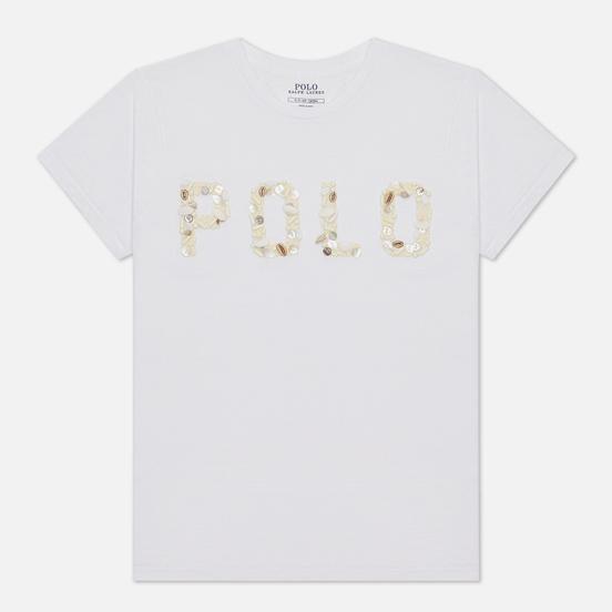 Женская футболка Polo Ralph Lauren Seashell Logo White