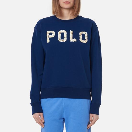 Женская толстовка Polo Ralph Lauren Seashell Logo Featherweight Fleece Holiday Navy
