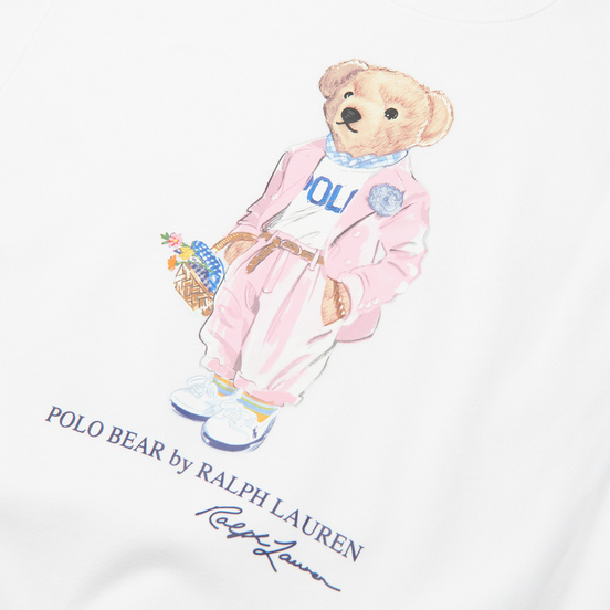Женская толстовка Polo Ralph Lauren Picnic Polo Bear White
