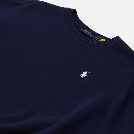 Женская толстовка Polo Ralph Lauren Striped-Trim Lightweight Seasonal Fleece Cruise Navy