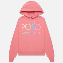 Женская толстовка Polo Ralph Lauren Ombre Logo Fleece Hoodie Ribbon Pink