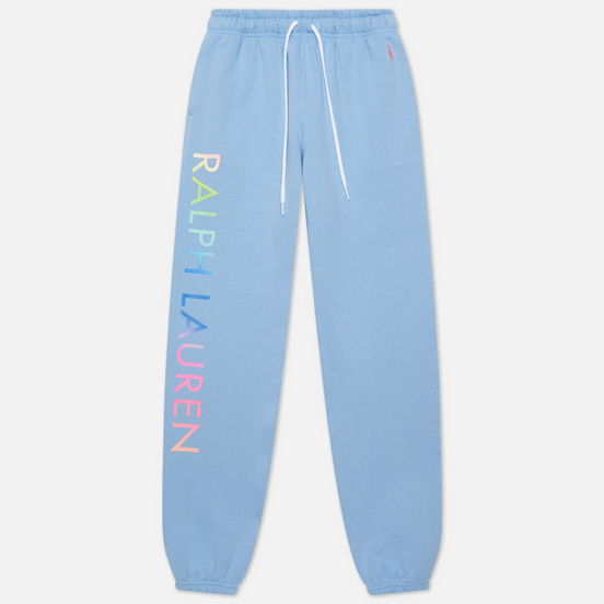 Женские брюки Polo Ralph Lauren Ombre Logo Fleece Chambray Blue