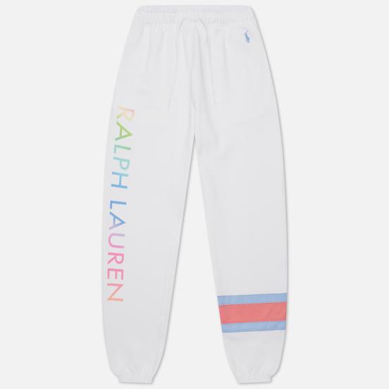 Женские брюки Polo Ralph Lauren Ombre Polo Sport Fleece Jogger White