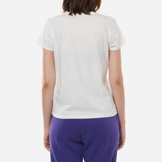 Женская футболка Polo Ralph Lauren Madras-Flag White