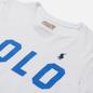 Женская футболка Polo Ralph Lauren Big Logo Stripe Sleeve White фото - 1