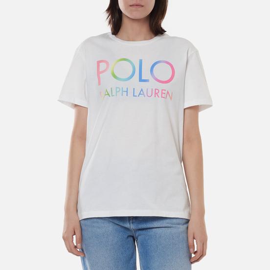 Женская футболка Polo Ralph Lauren Big Fit Ombre Logo White