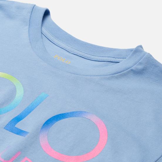 Женская футболка Polo Ralph Lauren Big Fit Ombre Logo Chambray Blue