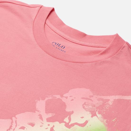 Женская футболка Polo Ralph Lauren Big Fit Ombre Pony Ribbon Pink