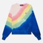 Женская толстовка Polo Ralph Lauren Tie-Dye Relaxed Fit Loopback Fleece Stripe Tie Dye фото - 0