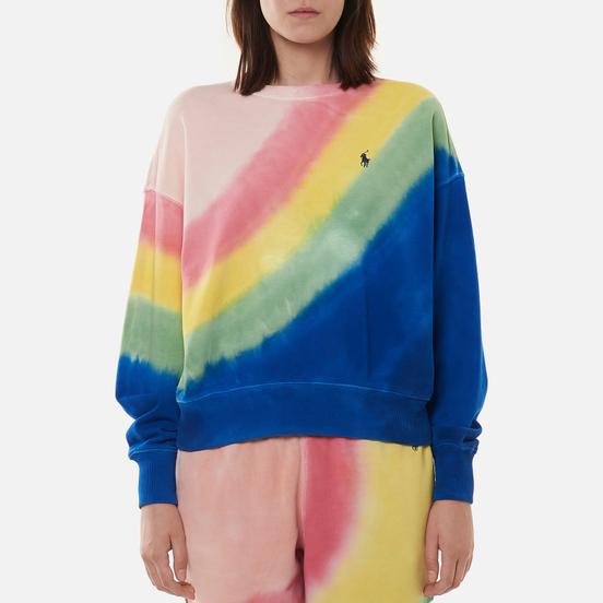 Женская толстовка Polo Ralph Lauren Tie-Dye Relaxed Fit Loopback Fleece Stripe Tie Dye