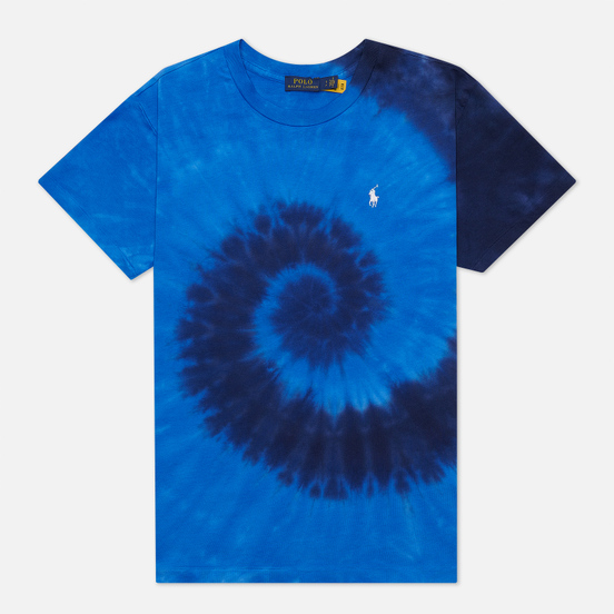 Женская футболка Polo Ralph Lauren Spiral Tie-Dye Big Fit Blue Ocean Spiral