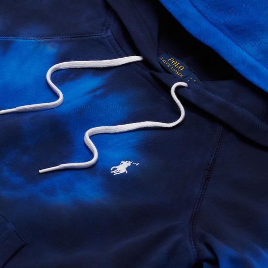Женская толстовка Polo Ralph Lauren Spiral Tie-Dye Terry Hoodie Blue Ocean Spiral