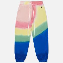 Женские брюки Polo Ralph Lauren Tie-Dye Straight Fit Loopback Fleece Stripe Tie Dye