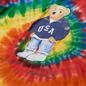 Женская футболка Polo Ralph Lauren Polo Bear Tie-Dye Rasta Blue фото - 1