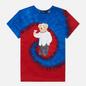Женская футболка Polo Ralph Lauren Polo Bear Tie-Dye Spiral Royal And Red фото - 0