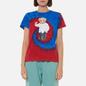 Женская футболка Polo Ralph Lauren Polo Bear Tie-Dye Spiral Royal And Red фото - 2