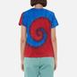Женская футболка Polo Ralph Lauren Polo Bear Tie-Dye Spiral Royal And Red фото - 3