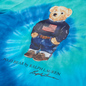 Женская футболка Polo Ralph Lauren Polo Bear Tie-Dye Blue Jerry фото - 1