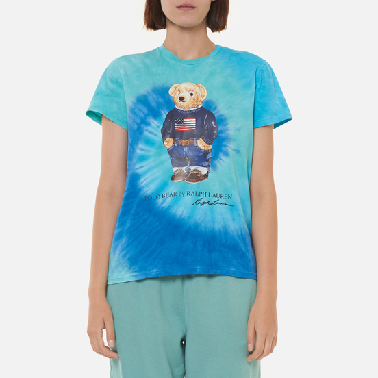 Женская футболка Polo Ralph Lauren Polo Bear Tie-Dye Blue Jerry