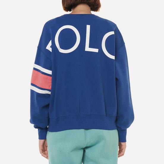 Женская толстовка Polo Ralph Lauren Striped-Trim Fleece Beach Royal