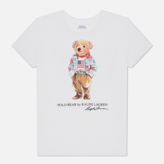 Женская футболка Polo Ralph Lauren Bandana Polo Bear White
