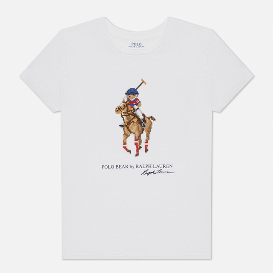 Женская футболка Polo Ralph Lauren Graphic Pixel Polo Bear White