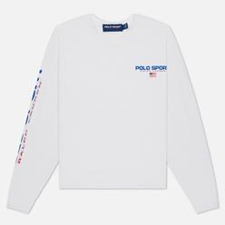 Женский лонгслив Polo Ralph Lauren Polo Sport Cropped Crew Neck White