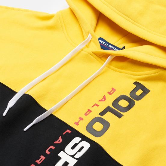 Женская толстовка Polo Ralph Lauren Polo Sport Relaxed Hoodie Black/Racing Yellow