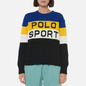 Женский свитер Polo Ralph Lauren Polo Sport Colour-Blocked Black/Active Royal фото - 2