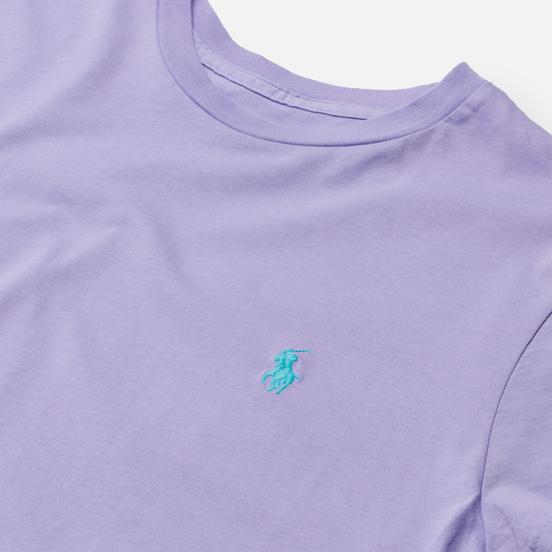 Женская футболка Polo Ralph Lauren Essential Crew Neck Embroidered Pony Cruise Lavendar