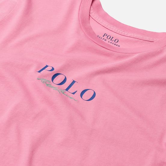 Женская футболка Polo Ralph Lauren Authentic Signature Crew Neck Beach Pink