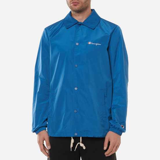 Мужская куртка Champion Reverse Weave Script Logo Coach Nautical Blue