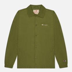 Мужская куртка Champion Reverse Weave Script Logo Coach Olive Green