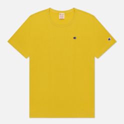 Мужская футболка Champion Reverse Weave Logo Chest & Sleeve Crew Neck Sunflower