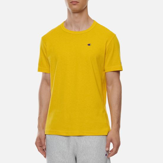 Мужская футболка Champion Reverse Weave Logo Chest & Sleeve Crew Neck Sunflower