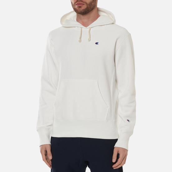 Мужская толстовка Champion Reverse Weave Logo Chest & Sleeve Hoodie White