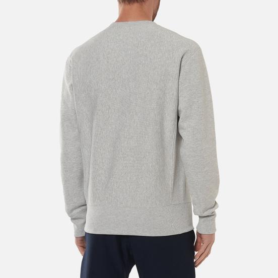 Мужская толстовка Champion Reverse Weave Logo Chest & Sleeve Crew Neck Light Grey