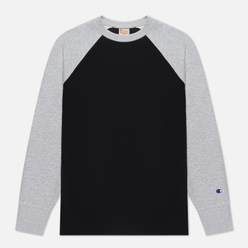 Мужская толстовка Champion Reverse Weave Colour Block Logo Chest And Sleeve Black