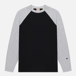 Мужская толстовка Champion Reverse Weave Colour Block Logo Chest And Sleeve Black