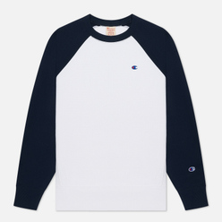 Мужская толстовка Champion Reverse Weave Colour Block Logo Chest And Sleeve White