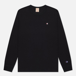 Мужской лонгслив Champion Reverse Weave Small Logo Chest And Sleeve Crew Neck Black