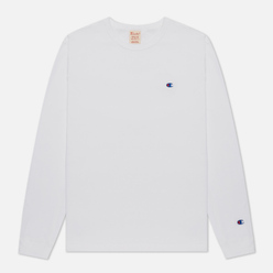 Мужской лонгслив Champion Reverse Weave Small Logo Chest And Sleeve Crew Neck White