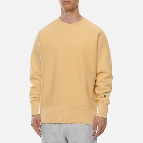 Мужская толстовка Champion Reverse Weave Garment Dye Crew Neck Ochre