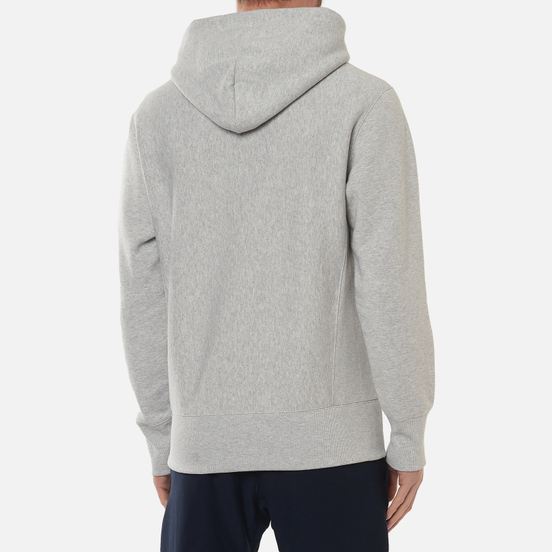 Мужская толстовка Champion Reverse Weave Big Script Hoodie Light Grey