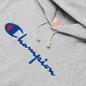 Мужская толстовка Champion Reverse Weave Big Script Chest & Logo Sleeve Hooded Light Grey фото - 1