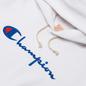 Мужская толстовка Champion Reverse Weave Big Script Chest & Logo Sleeve Hooded White фото - 1