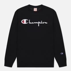 Мужская толстовка Champion Reverse Weave Script Logo Chest And C Logo Sleeve Black