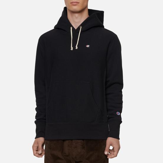 Мужская толстовка Champion Reverse Weave Small Logo Chest And Sleeve Hooded Black