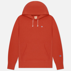 Мужская толстовка Champion Reverse Weave Small Logo Chest And Sleeve Hooded Chili